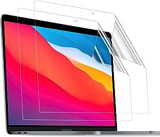 TOWOOZ Macbook Pro/Macbook Air フィルム 13 インチ M1チップモデル PET製 超薄 99%高透過率 高光沢 2016-2020 Macbook Pro/Macbook Air フィルム 目に優しい 指紋防止 ...