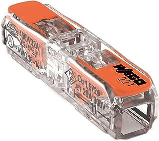 WAGO Klemme, 2-Leiter, 4 mm², Durchgangsverbinder mit Hebel, 221-2411 (60 Stück)