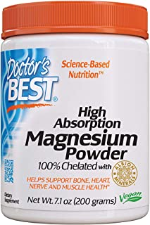 Sponsored Ad - Doctor's Best High Absorption Magnesium Powder, 100% Chelated TRACCS, Not Buffered, Headaches, Sleep, Energ...