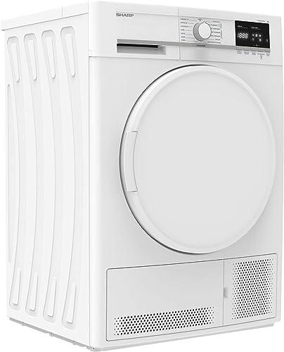 Sèche linge Condensation Sharp KDGCB7S7PW9 - Condensation - Chargement Frontal - Départ différé - Indicateur temps re...