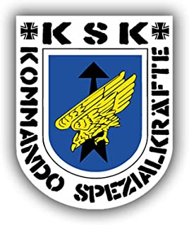 KSK Command Special forces Coat of arms emblem Logo Sek Special purpose special unit (7x6cm) - Sticker Wall Decoration