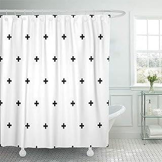 Emvency 72x72 Shower Curtain Waterproof Bathroom Home Decor Plus Crosses Cross Swiss Sign