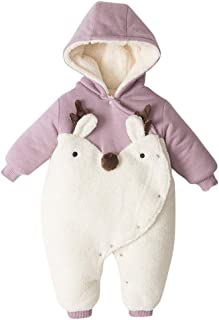 Baby Girls Boys Romper Newborn Thick Snowsuit Winter Infant Padded Warm Jumpsuits Outfit Jacket Overcoat 0-24 Months