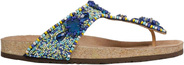 MALìPARMI Women's SJ00179101199B80 Light bluee Leather Sandals