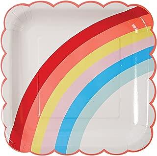 Meri Meri, Rainbow Plates, Birthday, Party Decorations - Large