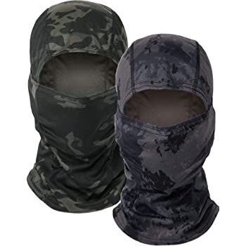 Balaclava Camo Tactical Hood Full Face Mask, Dust Wind Breathable Balaclava