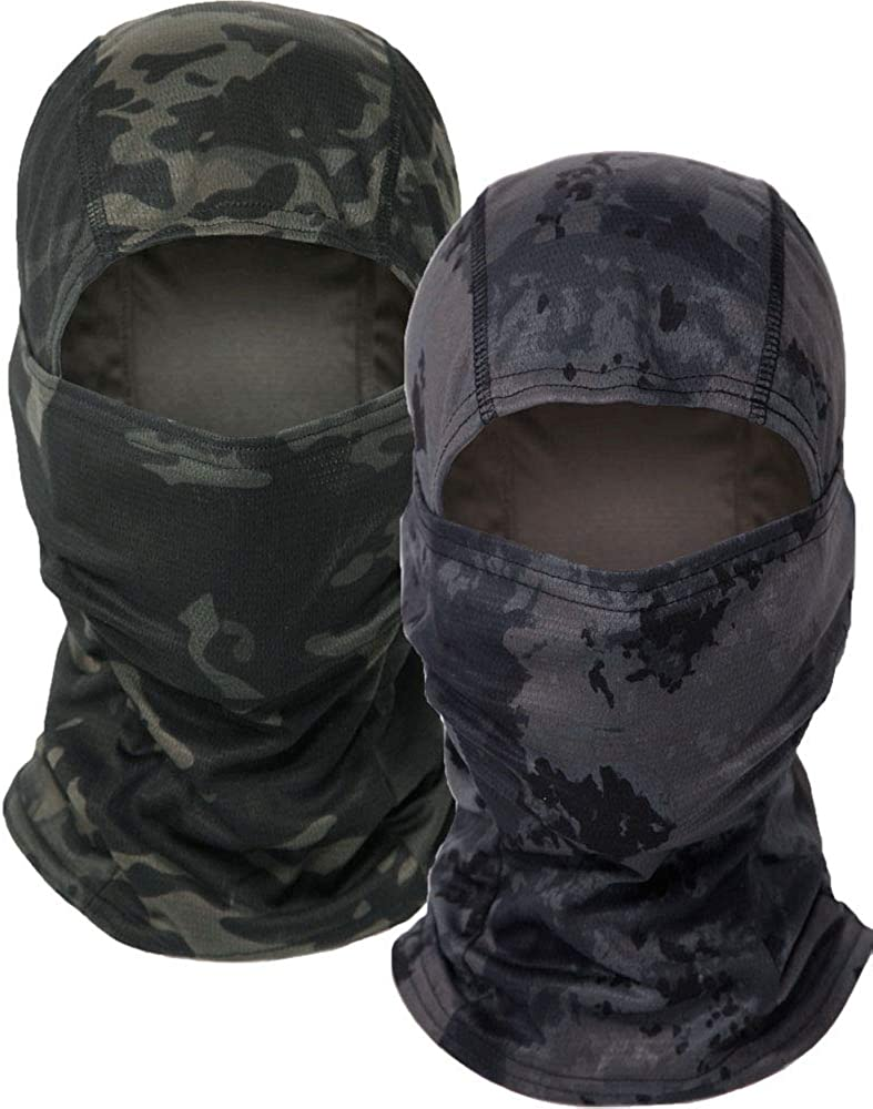 Balaclava Camo Tactical Hood Full Face Mask, Dust Wind Breathable Balaclava