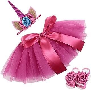 Nuosai Baby Unicorn Headband Tutu Dress Set 1st Birthday Gifts Party Supplies