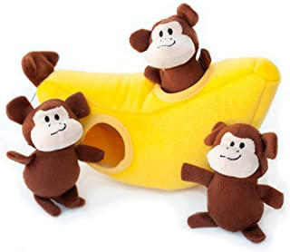 ZippyPaws Burrow Squeaky Hide and Seek Plush Dog Toy