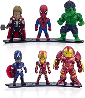 Feluxcy Süperhero ,Süperhero Action Figure,with 6 Charaters,Action Figures Toys for Kids Ages 3 and Up & Collector &Fans(6 pcs)