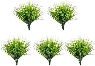 Fancy zz-shop New 5PCS Artificial Grass Plant Decorative Bendable Fake Plant Fake Grass Plant for Home Office Table Garden Wedding Party Decor,5pcs