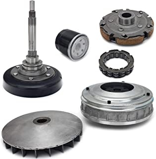 TARAZON For Hisun UTV 500 700 Clutch Primary Fixed Sheave//Primary Dry Clutch CVT Sheave Assy//Secondary Driven Clutch CVT Pulley//Housing//Pad Shoe//Bearing//Gasket//Flange Nut//Oil Seal//Oil Filter