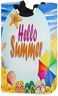 Panier à linge alge Aquarelle Hello Summer Beach Pliable Durable Panier de rangement Panier à linge Panier à linge Panier ...