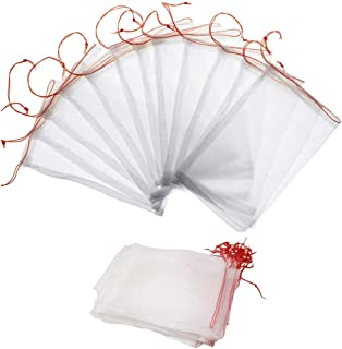 Garden Netting Bags, Fruit Protect Bags 20 Pack 20 x 30 cm Nylon Net Barrier Bag with Drawstring for Protecting Plant Seed...