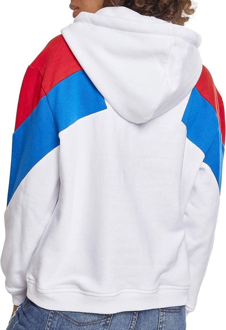 Urban Classics Sweat-Shirt À Capuche Femme Multicolore (Wht/Firered/Brightblue 01426)