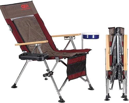 nueva gama alta exclusiva GG-Fishing chair Sillas Sillas Sillas Que acampan, Estructura cómoda, Resistente, máximo. Capacidad de Carga 150 kg, con portavasos, Silla para Exteriores  Garantía 100% de ajuste