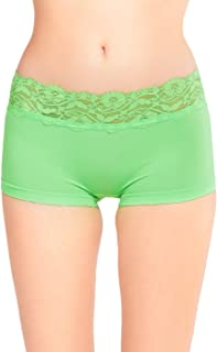 be40d5d8c11 Sofra Women s High Rise Seamless Boyshorts with Lace Waistband