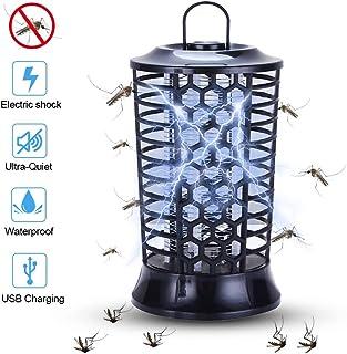 QUTAII Lampara Antimosquitos,Lámpara Antimosquitos Electrico Lámpara Anti Mosquitos Repelente Mosquitos Electrico Mosquitos Killer para Mosquitos, Insectos, Moscas (13x2.5cm, Negro) (6x2.5cm, Negro)