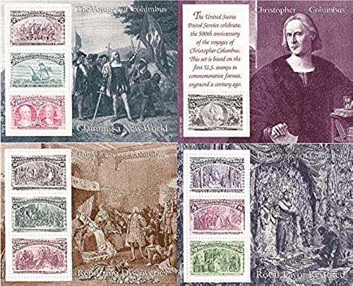 US Stamp - 1992 Christopher Columbus Set of 6 Souvenir Sheets  2624-9 by USPS