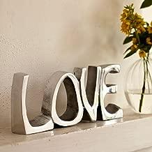 """Soprammobile """"Love"""" in acciaio INOX, 200 x 85 mm"""