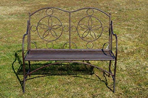 Exklusive Gartenbank Cielo, ergonomische Sitzfläche, Sitzbank in neuem Design und sehr stabiler Metallausführung - 3