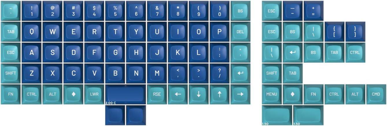 Drop MT3 Dasher Hi-Profile Doubleshot ABS Keycap Set - Ortho Kit