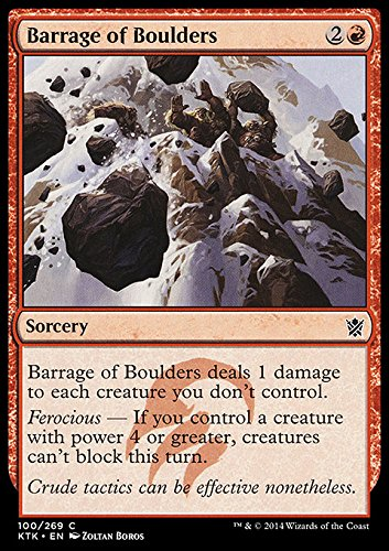 Magic The Gathering - Barrage of Boulders - Khans of Tarkir -...