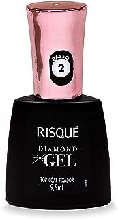 Risqué Top Coat Fixador Diamond Gel Cremoso - 9, 5 ml