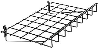 Slatwall Shelf with Lip Black Wire - 24