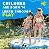 "SplashEZ 3-in-1 Sprinkler for Kids, Splash Pad, and Wading Pool for Learning – Children's Sprinkler Pool, 60'' Inflatable Water Toys – ""from A to Z"" Outdoor Swimming Pool for Babies and Toddlers #1"