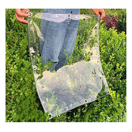 PENGFEI Transparent Tarpaulin Heavy Duty, Thickness 0.3MM Waterproof Windproof For Garden Furniture, Plants Are Rain-proof And Frost-proof, Size Customization (Color : Clear, Size : 3x6m)