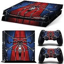 ZOOMHITSKINS PS4 Skin Decal Sticker Cover Superhero Custom Design + 2 Controller Skins Set