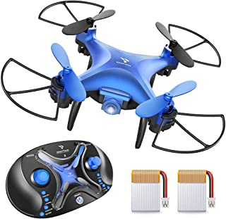 SNAPTAIN SP310 Mini Drone for Kids, Throw'n Go RC Quadcopter for Beginners w/ 3D Flips, Altitude Hold, Headless Mode, Speed Adjustment, One Key Return and Portable Controller Box