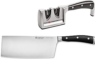 Wüsthof TR1120360203 Coffret Asia 2 pièces Classic Ikon, couteau de Chef chinois 18 cm et aiguiseur double