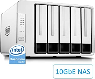 TerraMaster F5-422 10GbE NAS 5-Bay Network Storage Server Intel Quad-core CPU with Hardware Encryption (Diskless)