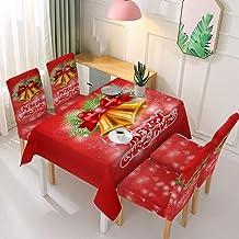 Kerst Rechthoekig Tafelkleed - Kerst Wasbaar Tafelkleed Stretch Stoel Hoes Kerst Patroon Afdrukken Rechthoekig Tafelkleed ...