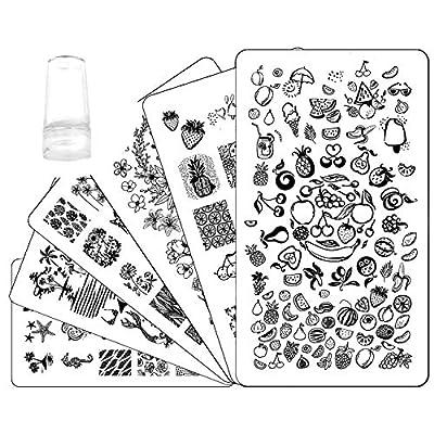 Ejiubas Nail Stamper Stamping Plates Nail Stamping Kit