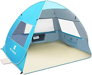 SGODDE Large Pop Up Beach Tent 2019 New Anti UV Sun Shelter Tents Portable Automatic Baby Beach Tent Instant Easy Outdoor ...