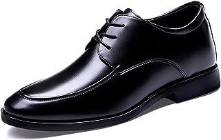 [スフォン] シークレットシューズ ビジネスシューズ 紳士靴 6cm背が高くなる靴 レースアップ フォーマル革靴 インヒール内蔵身長アップシューズ