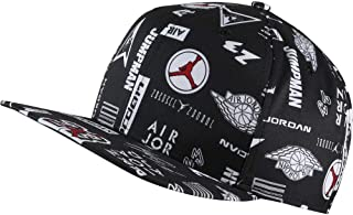 Men's Adjustable Pro Graphic AOP Snapback Cap, Adjustable Black Hat