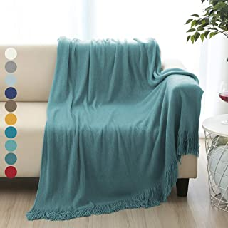 ALPHA HOME Soft Throw Blanket Warm & Cozy for Couch Sofa Bed Beach Travel - 50