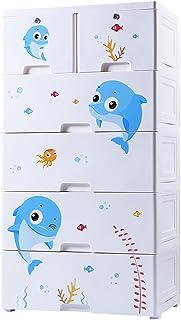 noyydh Tiroir en Plastique Armoire de Stockage Chambre d'enfants Jouet Rangement Armoire bébé Armoire vêtements boîte de R...