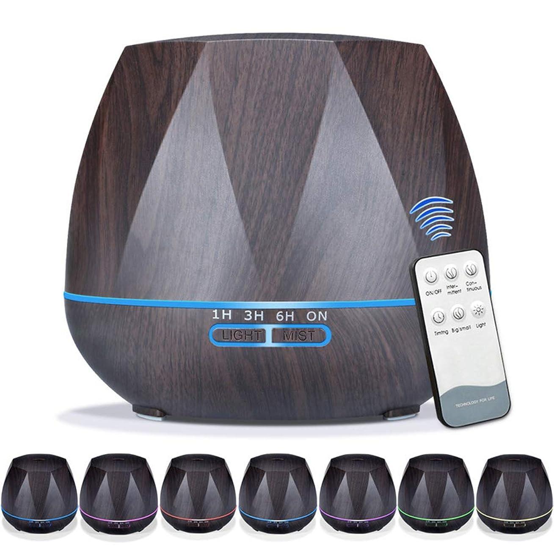 入学するビン器官550mlエッセンシャルオイルディフューザー5に1アロマセラピー超音波クールミスト加湿器ルーム空気香りホームオフィスギフト用,EUplug