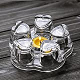 TAMUME Crystal-Clear Glass Teapot Warmer Stable Holder for Tealight Stand for Teapot (400-1200ml) - Large