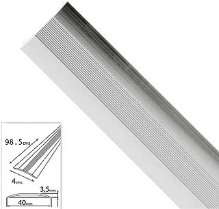 Wolfpack 2541110 Tapajuntas adhesivo para moquetas (aluminio, 98,5 cm) color plata