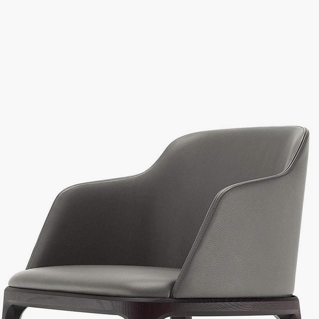HXF- Chaise de salle à manger, chaise de bureau simple, dossier créatif, chaise de loisirs, chaise de salle à manger pour adulte durable (couleur : gris) Gris