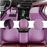 Muchkey Alfombrillas Coche para Mercedes Benz A/B/C/E/S/V/R/G klasse CL CLA CLK CLS GL GLA GLE SL SLC SLK AMG GT GLC GLS Personalizadas Alfombras Tapete Violeta