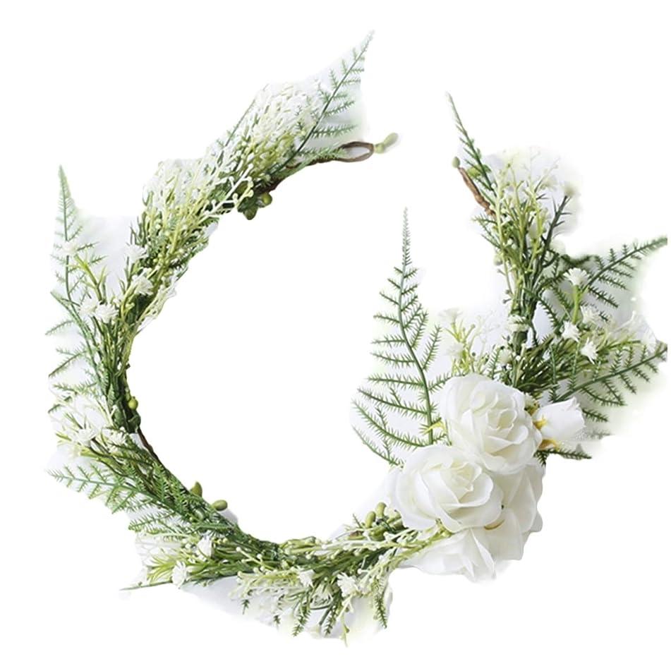 FIDDY898 Floral Crown Green Vine Bridal Accessories Wedding Crown