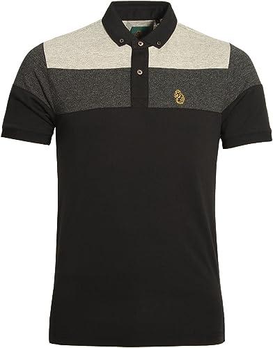 LUKE SPORT Mickey Spacer Stripe Polo Shirt   noir Mix