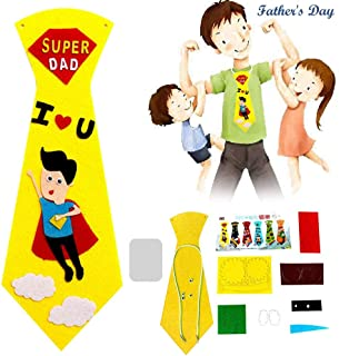 I Love Dad - Hamkaw Creative Crafts DIY Ties Kids Handmade Educational Toys Personalized Gifts for Super Dad Daddy from Daughter & Son Father Day Kindergarten Birthday Present